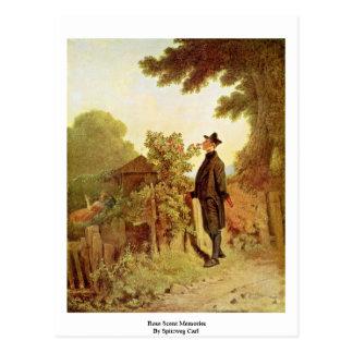 Rose Scent Memories By Spitzweg Carl Postcard