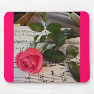 Rose Sheet Music Mouse Pad