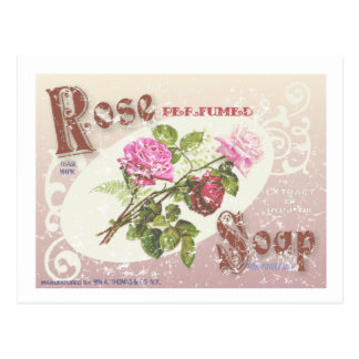 Rose Soap- distressed Postcard