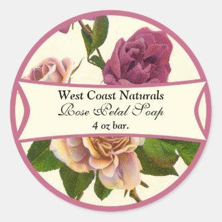 Rose Soap Label Round Sticker