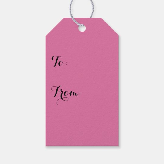 Rose Solid Colour Gift Tags