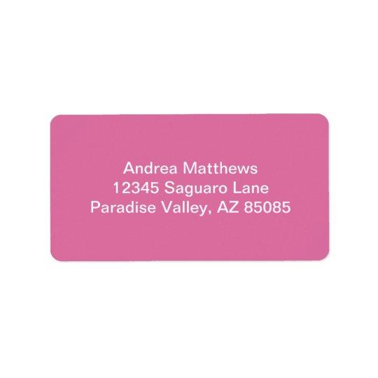 Rose Solid Colour Label