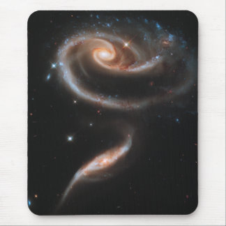 Rose Spiral Galaxies Mouse Pad