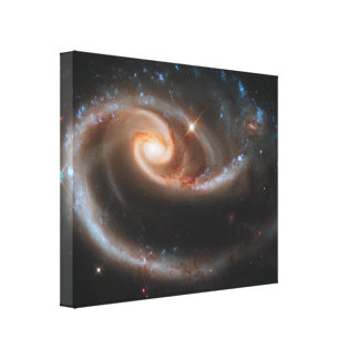 Rose Spiral Galaxies Wrapped Canvas