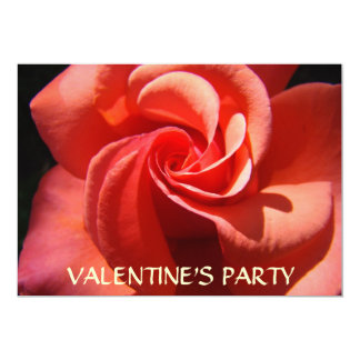 "ROSE SPIRAL INVITATION CARDS Valentine's Parties 5"" X 7"" Invitation Card"