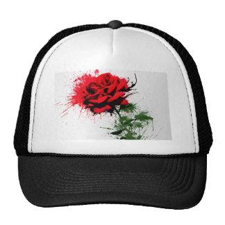 Rose Splatter Hats