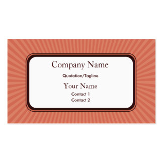 Rose Spring Rays Business Cards