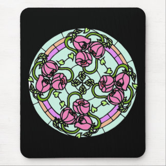 Rose Stain Glass Mouse Pad