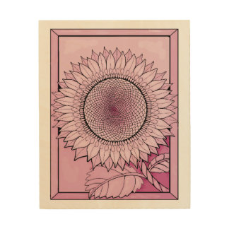 Rose Sunflower Wood Wall Decor