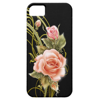Rose Swirl Black Case For iPhone 5/5S