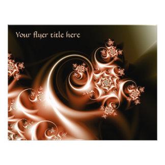 Rose swirl flyer design