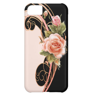 Rose Swirl Pink PB Cover For iPhone 5C
