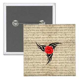 Rose Tattoo 15 Cm Square Badge