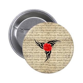 Rose Tattoo 6 Cm Round Badge