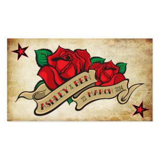 Rose Tattoo Custom RSVP Pack Of Standard Business Cards