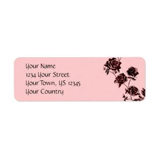 Rose Tattoo Return Address Label