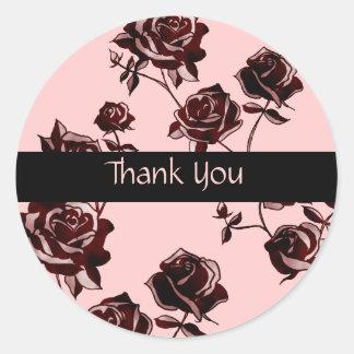 Rose Tattoo Round Sticker