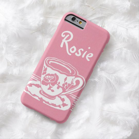 Rose Teacup Personalised iPhone 6 Case