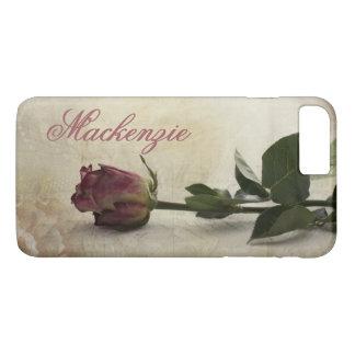 Rose Tech | Name Dusky Romantic Pink Vintage Lace iPhone 8 Plus/7 Plus Case