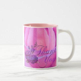 Rose,Thank You_ Two-Tone Mug
