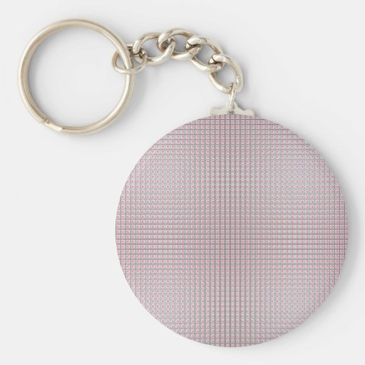 Rose tiles pattern keychains