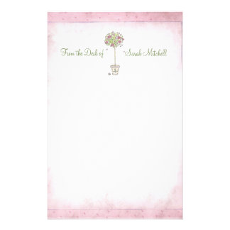 "Rose Tree: ""From the Desk of -"" Stationery"