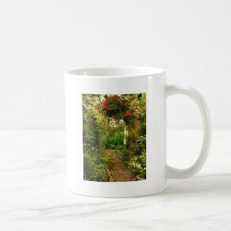Rose Trellis Over Garden Path Basic White Mug