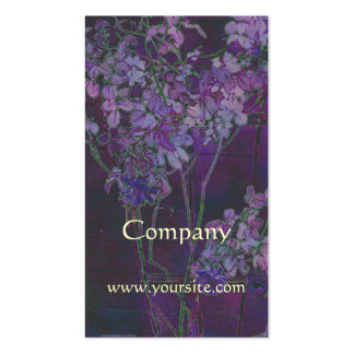 Rose Trellis Purple Watercolor Pack Of Standard Business Cards