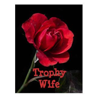 Rose Trophy Wife Postcard