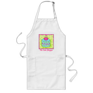 Rose Turquoise Cake Apron Business Personalized
