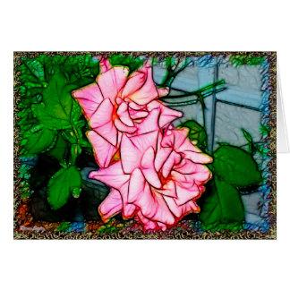 Rose Vine Note Card