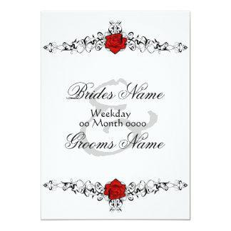 Rose Vine Wedding Invitation