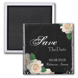 rose vintage Chalkboard wedding save the date Magnets