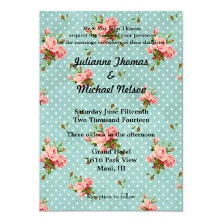 "Rose Vintage 5"" X 7"" Invitation Card"