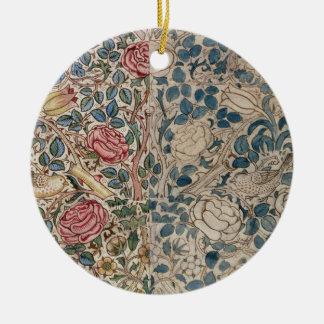 'Rose' wallpaper design (pencil and w/c on paper) Round Ceramic Decoration