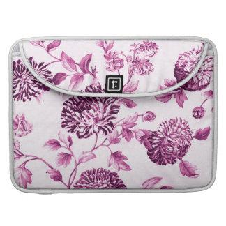 Rose Water Pink Vintage Floral Toile No.2 Sleeves For MacBooks