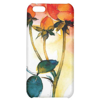 Rose Watercolor Ipod4 iPhone 5C Cases