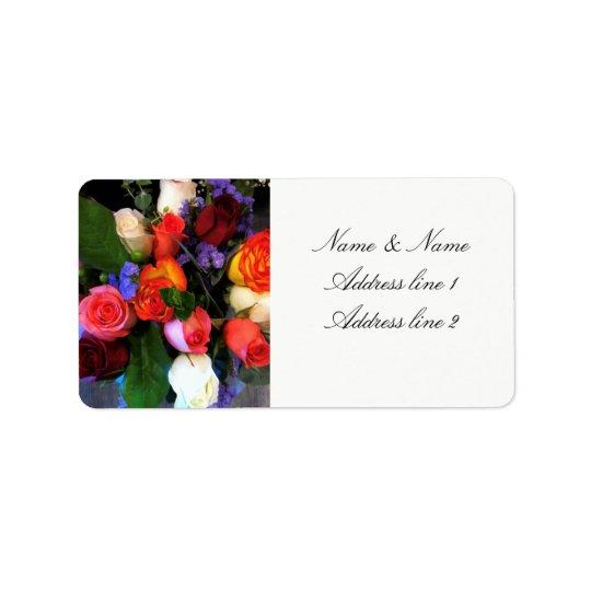 Rose wedding address labels