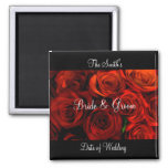 Rose Wedding Favour Magnet template