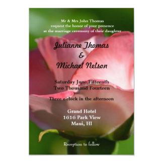 "Rose Wedding 5"" X 7"" Invitation Card"