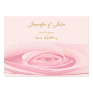 Rose Wedding Invitation Pack Of Chubby Business Cards