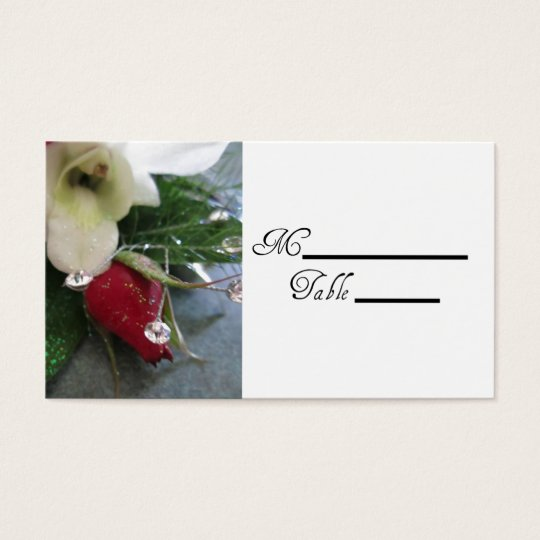 Rose Wedding Placecards Business Card