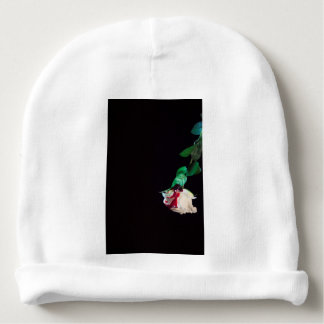 Rose white blood red side baby beanie