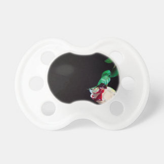 Rose white blood red side baby pacifiers