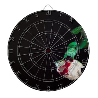 Rose white blood red side dartboard