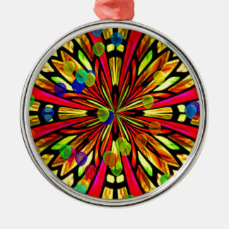 Rose Window Silver-Colored Round Decoration