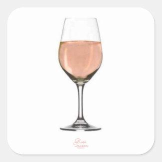 Rosé wine glass sticker