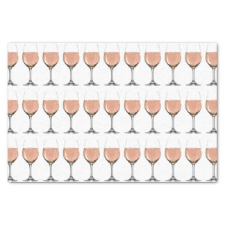 rosé wine glass tissue paper