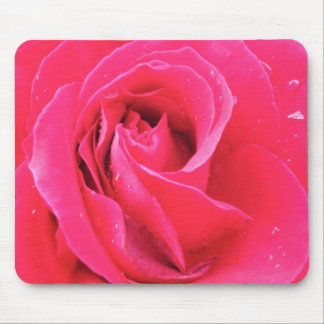 Rose with drops mouse mat