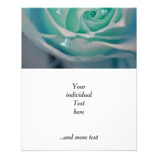 rose with hearts aqua 11.5 cm x 14 cm flyer